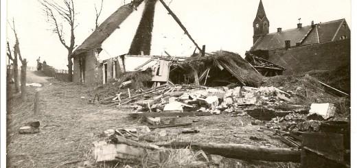 Een bom -mogelijk een ander projectiel- vernietigde op  8 december 1941 een boerderij in Ouderkerk aan den IJssel.
