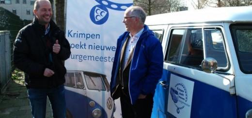 De vertrouwenscommissie en raadsleden zijn naar verschillende plekken in Krimpen geweest om van de inwoners te horen wat zij belangrijk vinden aan de nieuwe burgemeester. (Foto: gemeente Krimpen aan den IJssel)