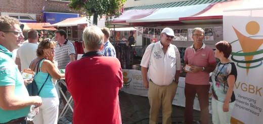 de kraam van Gemeente Belang Krimpenerwaard stond afgelopen zaterdag ook met een kraam op de braderie in Stolwijk.