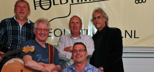 The Oldtimers: Kees de Blois, Thijs Overbeek, Frans Carree, Fijke Achterberg en Kees van Zandwijk.