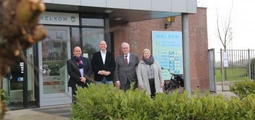 Van links naar rechts: Willem van Herk, Erik van Herk, Gerrit Boudesteijn, Dilia Blok.