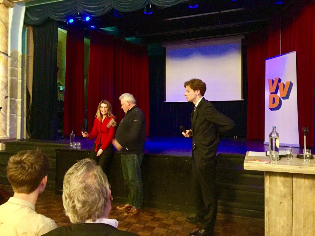 Discussie met Barbara Visser, Tweede Kamerlid namens de VVD en VVD-gedeputeerde Floor Vermeulen.