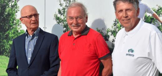 Commissieleden Ton Rekkers, Peter Kleinekoort en Leo Egge (vlnr) hebben er zin in.
