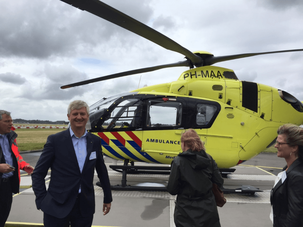 Anthon Timm (VVD) voor traumahelikopter.