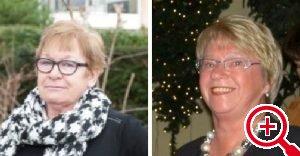 Janette Hofman (links) en Geke Smit.