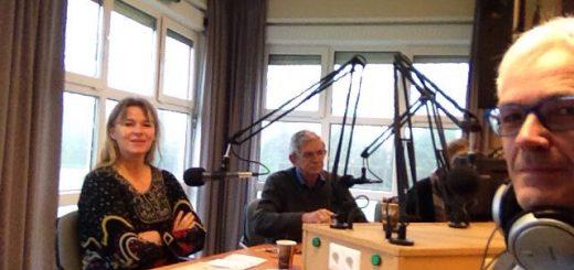 (gerjo Goudriaan (links) en Ton van Dorp (rechts) bij het polite debat in de studio van RTV Krimpenerwaard.