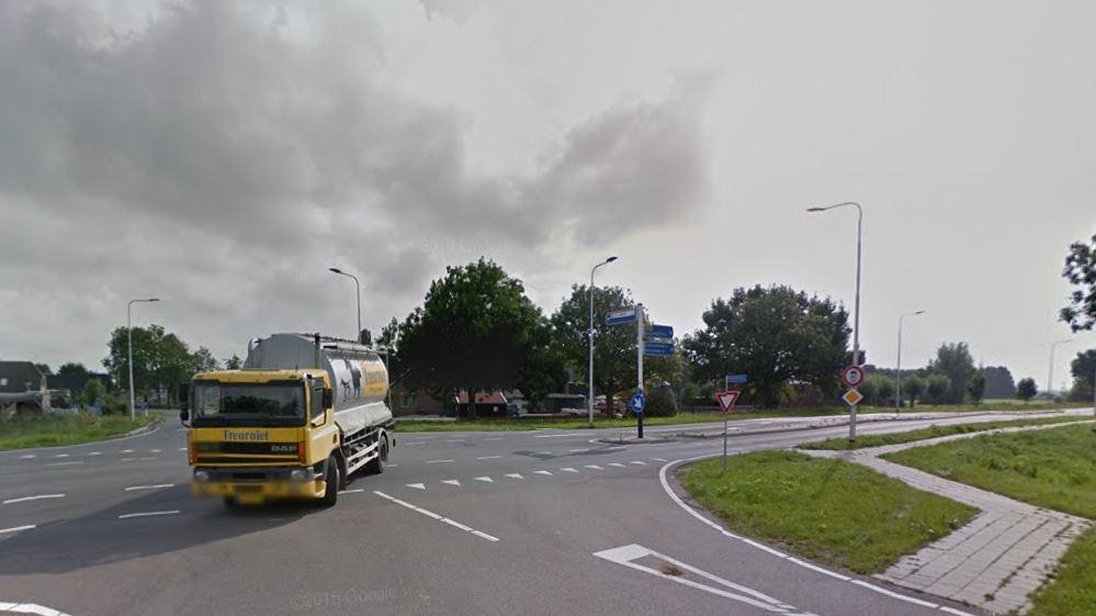 De kruising van de N207 met de Koolwijksweg. (Foto: Streetview)