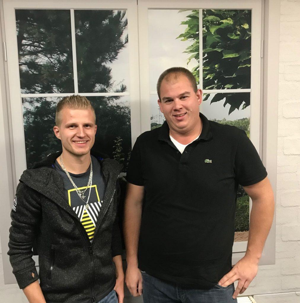 Lars Visser (l) en Johan Goudriaan