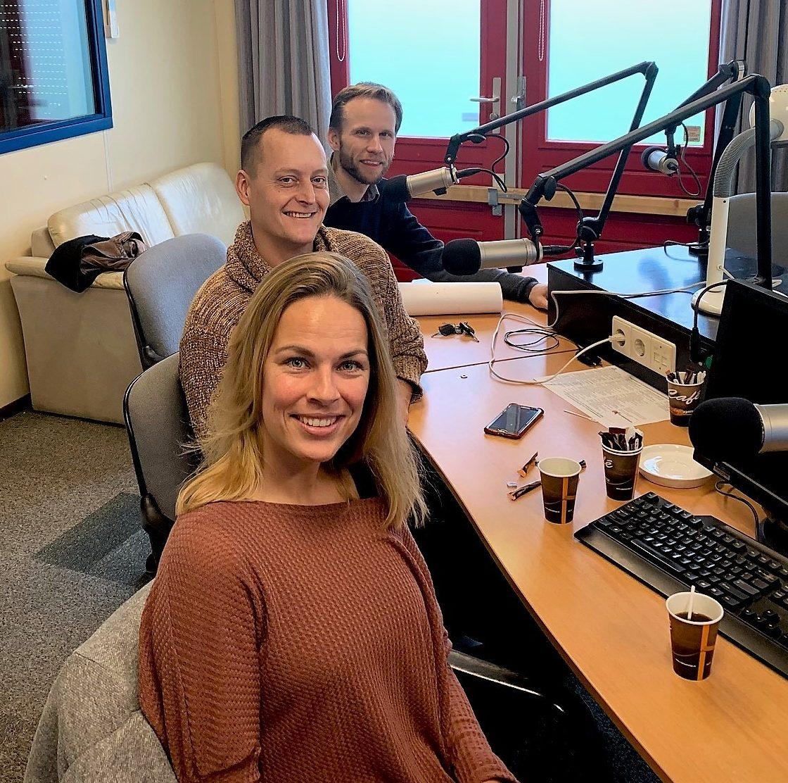 Judith van Willigen, Patrick Verwei (midden) en Justin Peters
