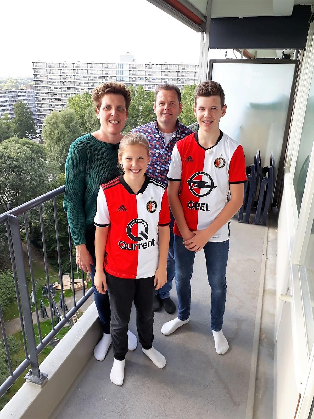 Familie Schep op de flat in Rotterdam