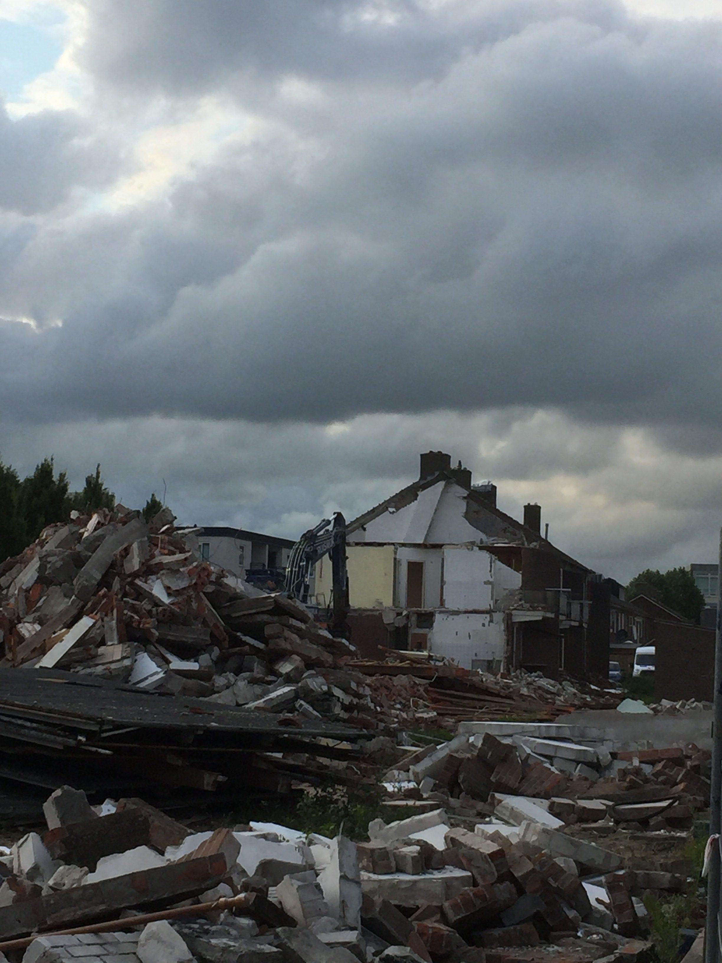 Foto Dini Dollaard: sloop aan de 's-Heerenbergstraat