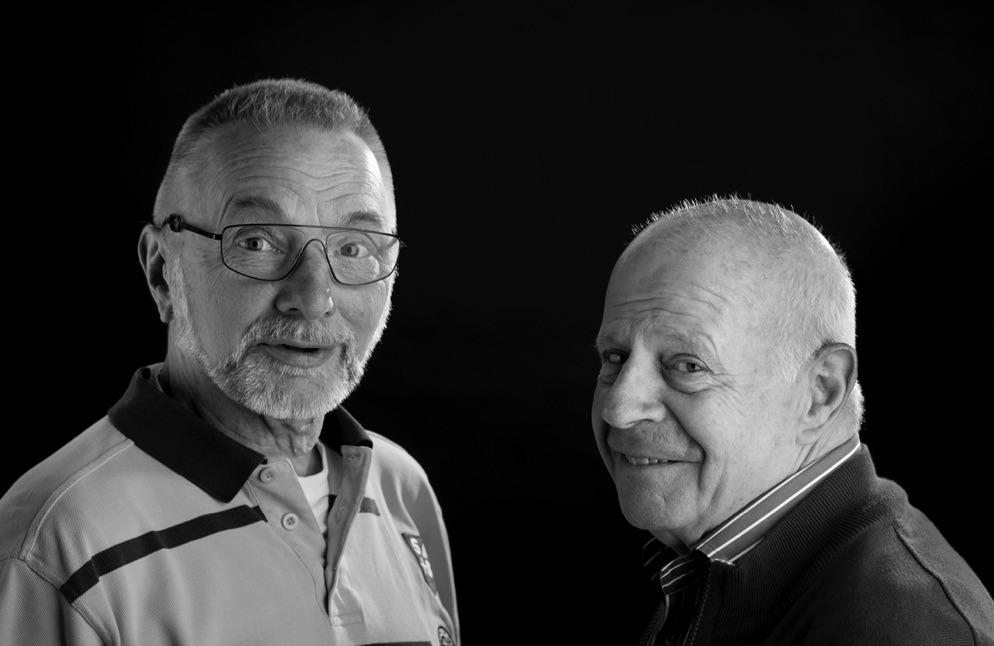 Fotografen Rob Glastra (l) en André Koorenhof