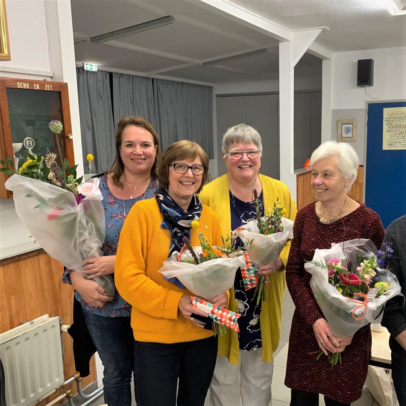Van links naar rechts: Thersa Noomen, Marike van der Linden, Janny van den Berg en Leonoor van Kempen