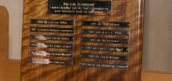 Winnaars Jan van Beaumontprijs