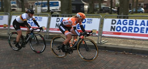 Amy Pieters in actie.