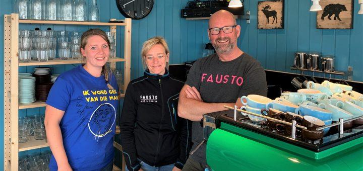 Het team van Dame: Jonne Herens (l), Elske en Jan-Luc Koenen.